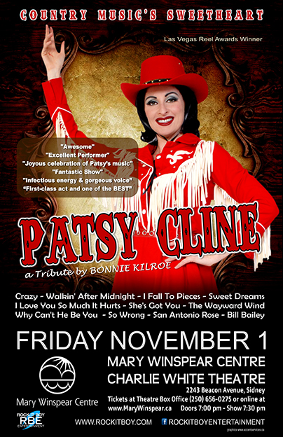PATSY CLINE: A TRIBUTE BY BONNIE KILROE IN SIDNEY