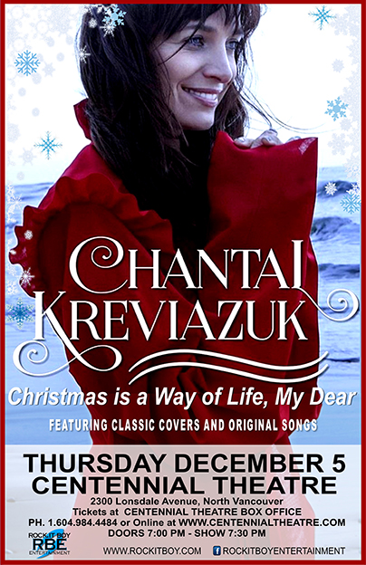 CHANTAL KREVIAZUK IN NORTH VANCOUVER