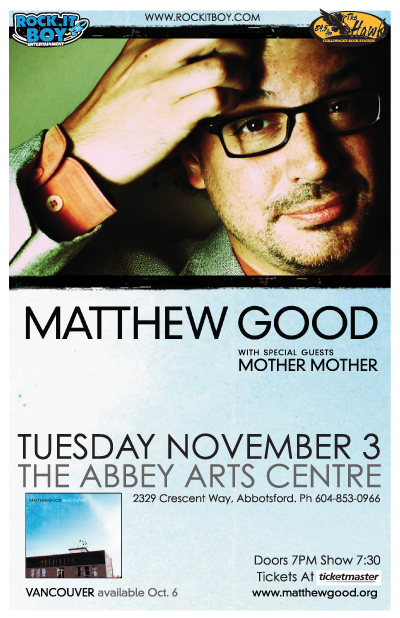 MATTHEW GOOD with guests MOTHER MOTHER