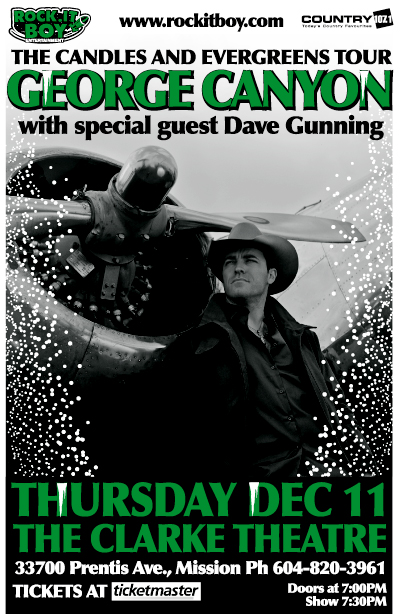 GEORGE CANYON with special guest DAVE GUNNING – CANDLES & EVERGREENS' TOUR
