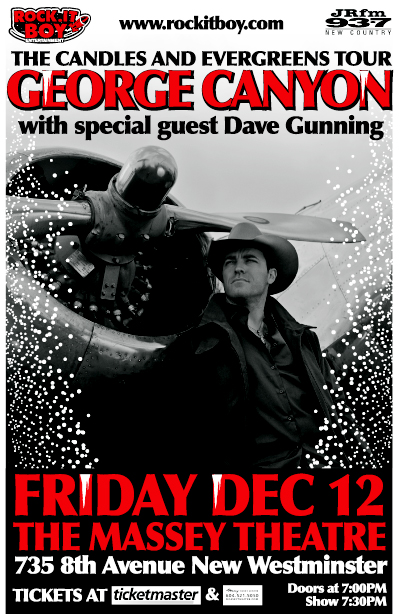 GEORGE CANYON with special guests DAVE GUNNING – CANDLES AND EVERGREENS' TOUR