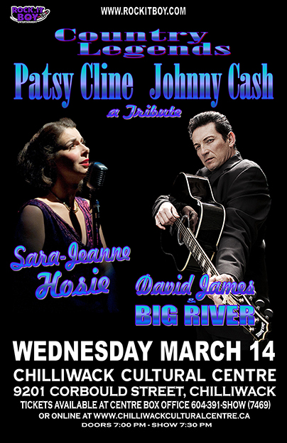 COUNTRY LEGENDS – A TRIBUTE TO PATSY CLINE & JOHNNY CASH IN CHILLIWACK