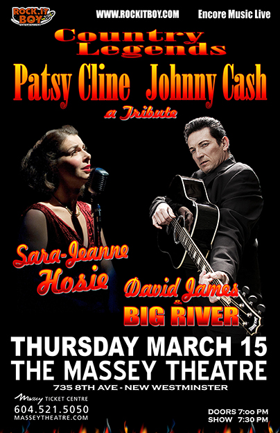 COUNTRY LEGENDS – A TRIBUTE TO PATSY CLINE & JOHNNY CASH IN NEW WESTMINSTER