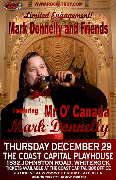 DONNELLY & FRIENDS FEATURING MR. O'CANADA – MARK DONNELLY