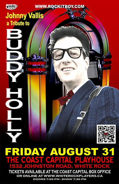 JOHNNY VALLIS AS BUDDY HOLLY IN WHITE ROCK