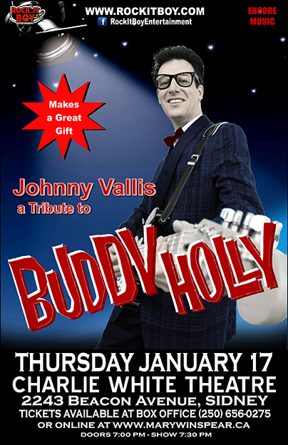 JOHNNY VALLIS AS BUDDY HOLLY