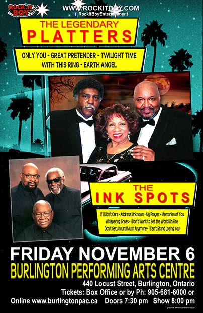 THE LEGENDARY PLATTERS AND THE INK SPOTS