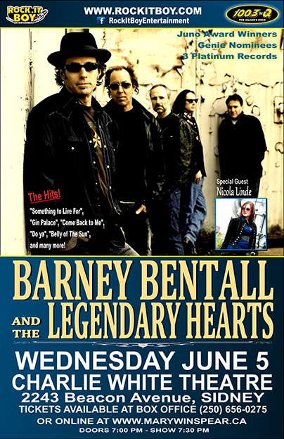 BARNEY BENTALL & THE LEGENDARY HEARTS IN SIDNEY