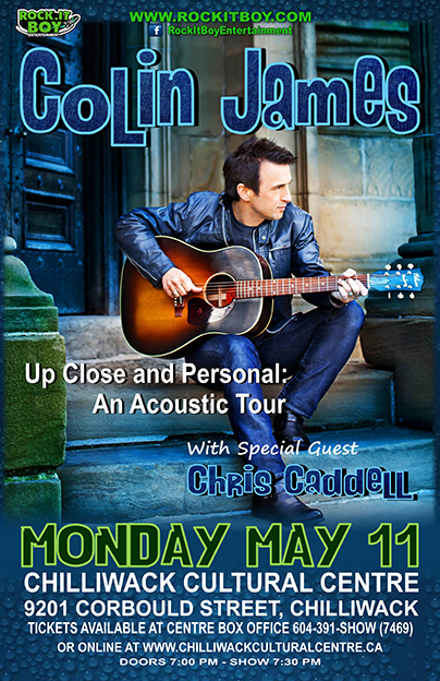 COLIN JAMES IN CHILLIWACK