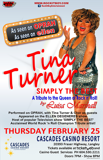 LUISA MARSHALL AS TINA TURNER IN LANGLEY