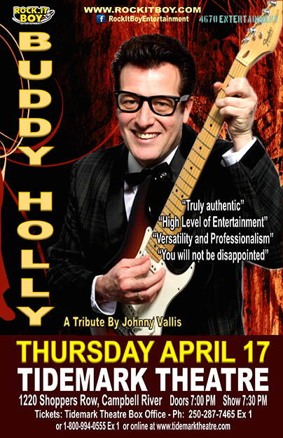 JOHNNY VALLIS: A TRIBUTE TO BUDDY HOLLY IN CAMPBELL RIVER